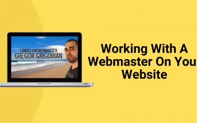 Working With A Webmaster On Your Website